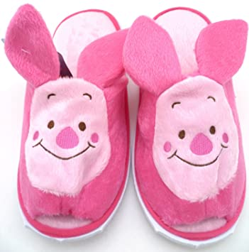2ef14119ff01 Disney Winnie The Pooh Piglet Slippers Shoes Soft Plush Length 10.5 Inch  Gifts for Kids