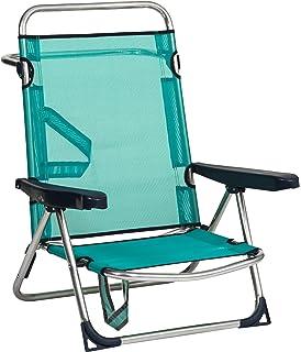 d5d0b03a5 Alco - Silla Cama Playa Aluminio Fibreline Color Azul Turquesa (30 1-607AZ)