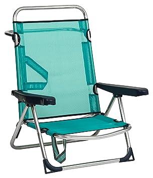 Alco - Silla Cama Playa Aluminio Fibreline Color Azul Turquesa (30 1-607AZ): Amazon.es: Juguetes y juegos