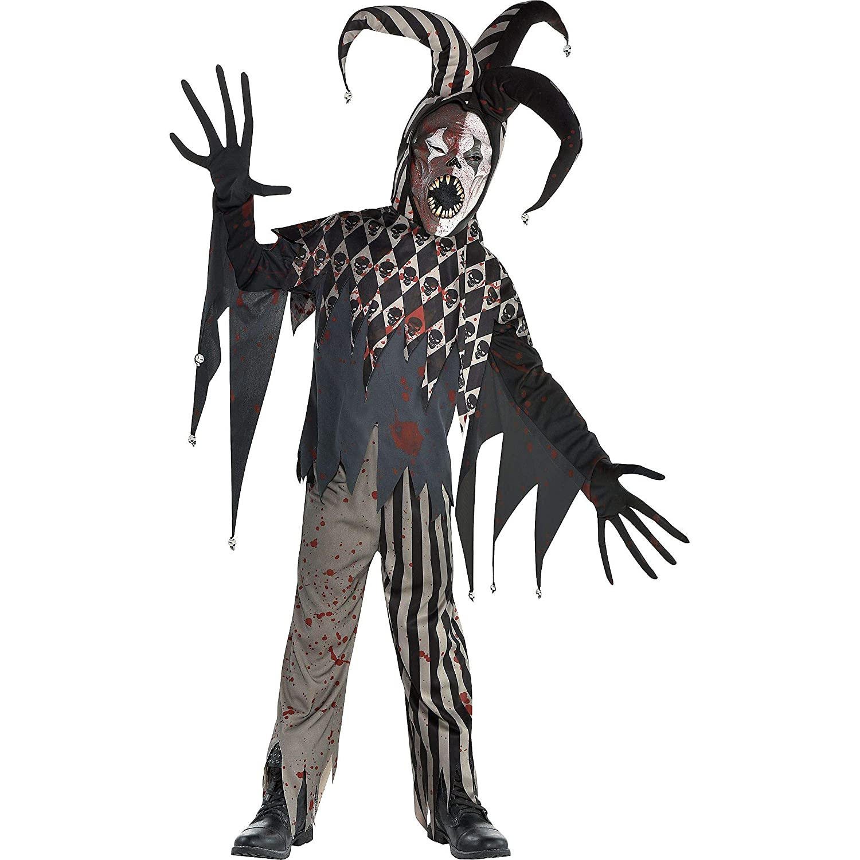 amscan - Disfraz de bufón de Halloween para niños, extra grande ...