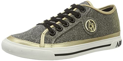 Womens 9252087p597 Trainers, Black/Silver, 4 5 6 7 8 UK Armani Jeans