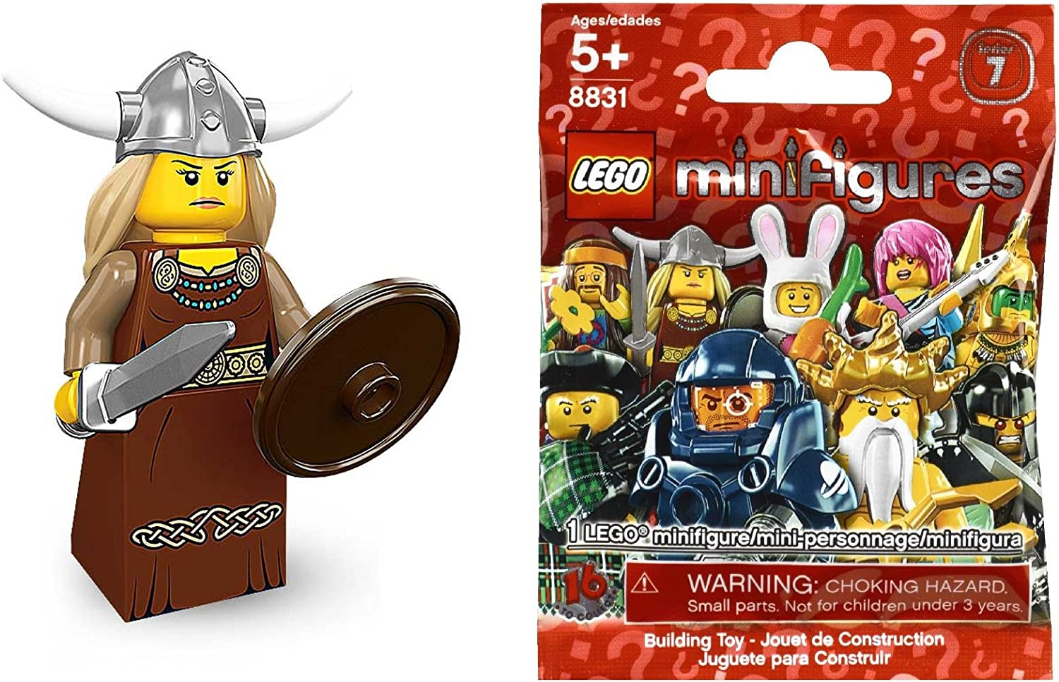 Genuine Lego minifigures The Viking Woman from series 7