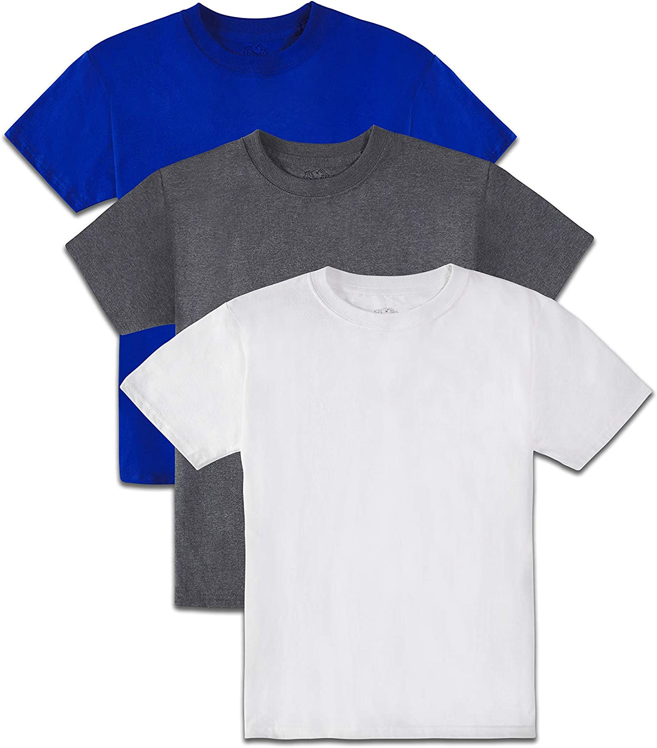 Fruit of the Loom Boys' Tag-Free Cotton Tees (Assorted Color Multipacks): Clothing