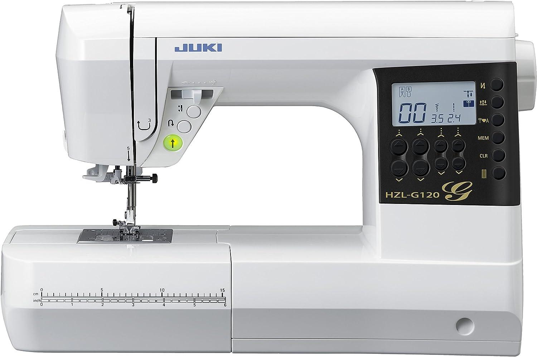 JUKI máquina de Coser electrónica, Metal, Blanco, 44,5x 22,3x 29,2cm