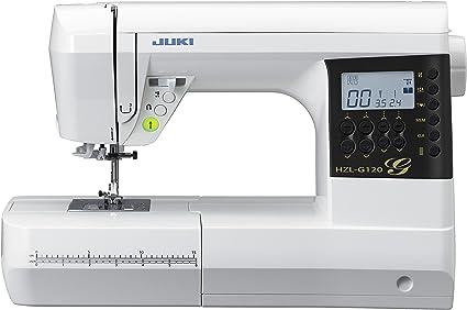JUKI HZL-G120 Máquina de Coser Electrónica, Metal, Blanco, 44,5 x ...