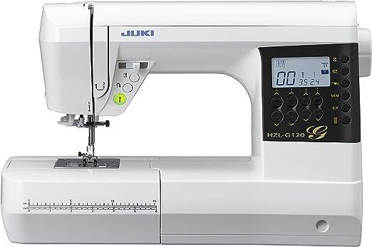 JUKI HZL-G120 Máquina de Coser Electrónica, Metal, Blanco, 44,5 ...