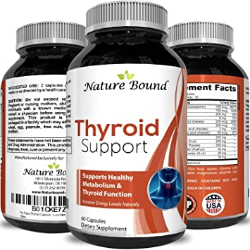 18f545108e Thyroid Support Complex Blend Vitamin B12, Zinc, Copper, Selenium, Iodine  Increase Metabolism