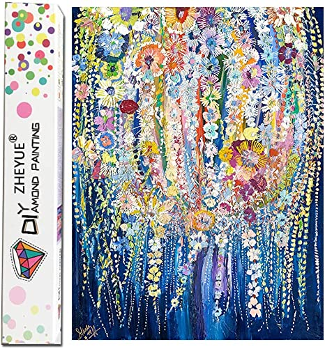 5D Diamond Painting Abstract Belle and the Rose Kit