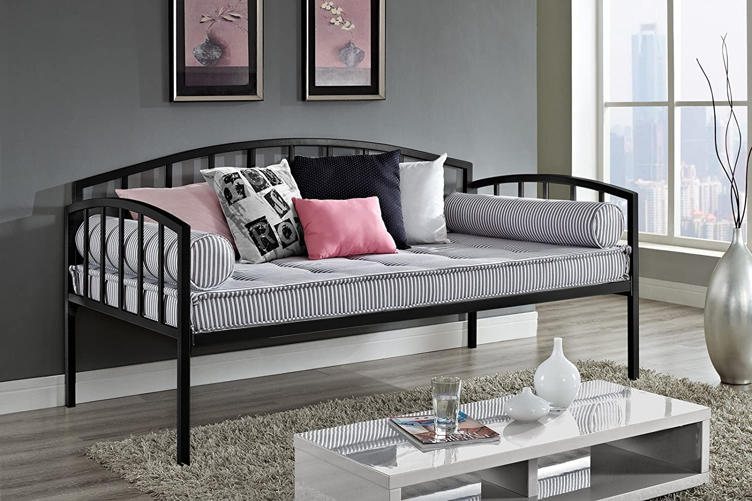 DHP Ava Daybed Metal Frame, Twin, Black