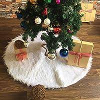 ShiyiUP Falda de Árbol de Navidad Blanco Decoración