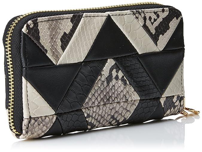 Mone_snake Patch Mini Zip, Womens Wallet, Schwarz (Negro), 2x9x15 cm (B x H T) Desigual