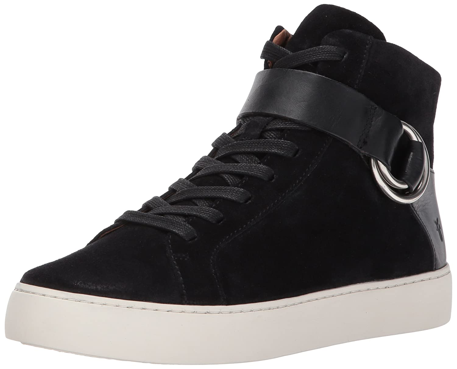 FRYE Women's Lena Harness High Fashion Sneaker B01N4GFG4A 10 B(M) US|Black Soft Oiled Suede