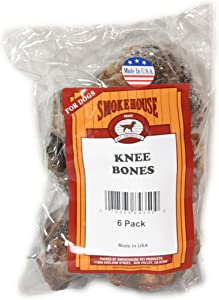 Smokehouse 100-Percent Natural Knee Bone Dog Treats, 6-Pack