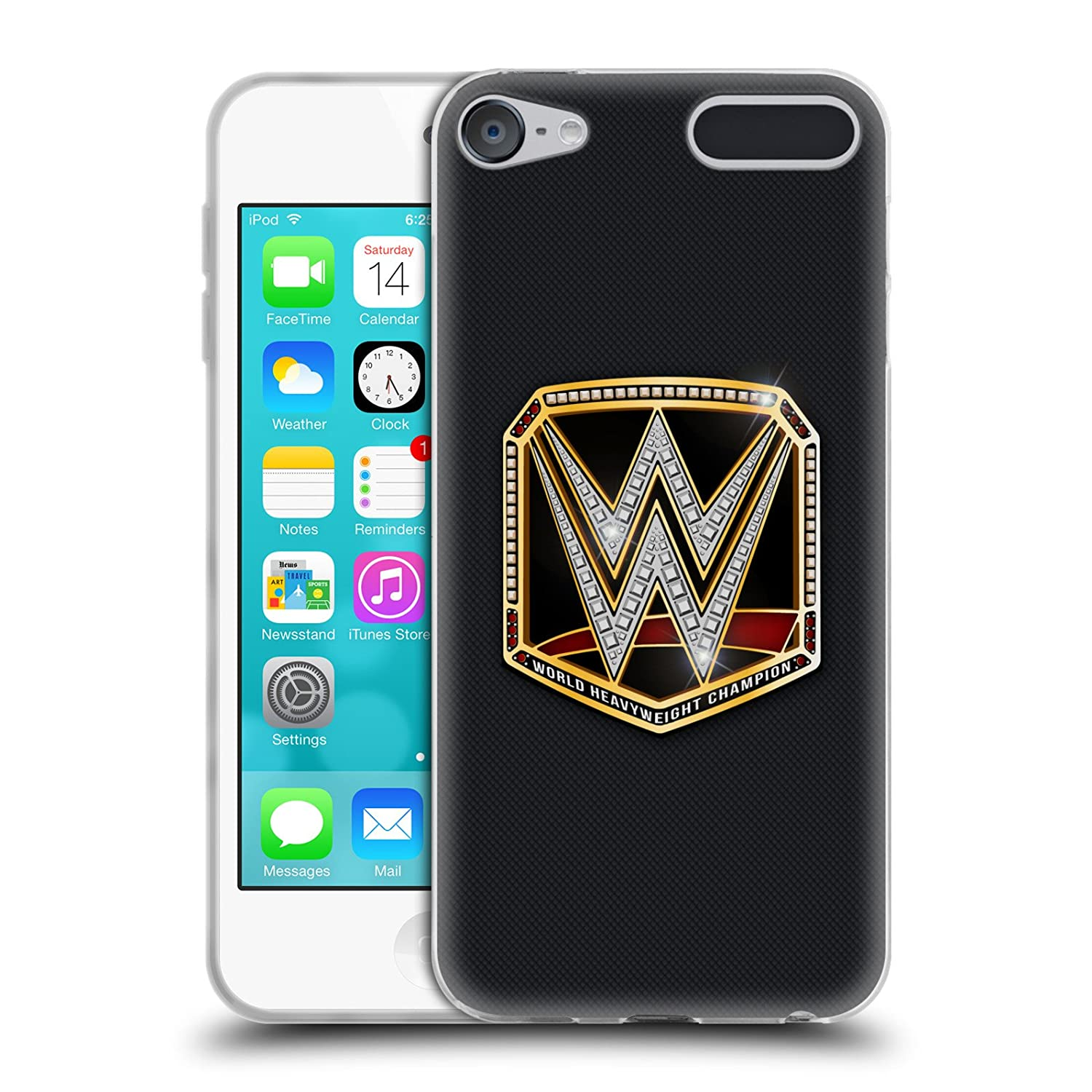Official WWE World Heavyweight Champion Title Belts Soft Gel Case for Apple iPod Touch 6G 6th Gen
