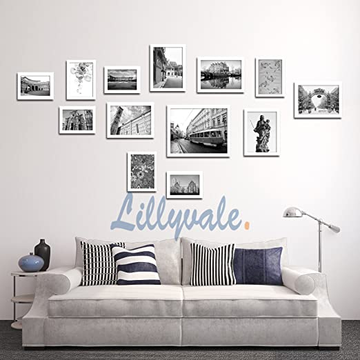Lillyvale Large Multi Picture Photo Frame Frames Wall Set 13 Pieces ...