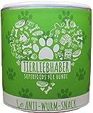 TIERLIEBHABER Anti-Wurm-Snack (350g) / Natürliche Darm-Pflege für Hunde / Natürlicher Schutz vor Darm-Parasiten / SUPERFOOD aus Schwarzkümmel-Öl , Knoblauch , Kurkuma und weiteren Kräutern / REIN NATÜRLICH