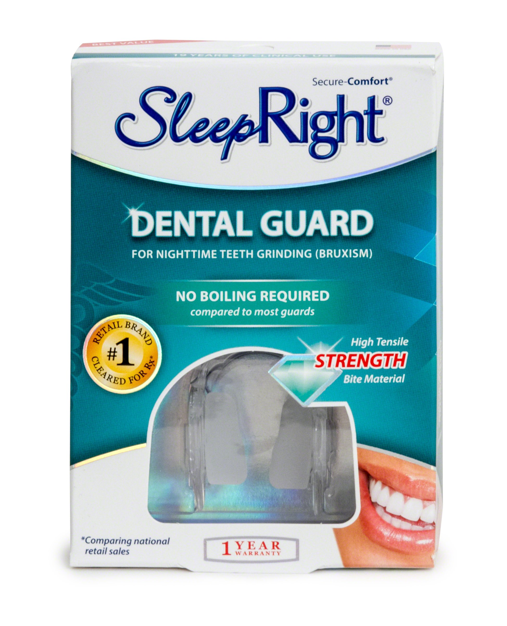 SleepRight Secure-Comfort Dental Guard – Mouth Guard To Prevent Teeth Grinding – SleepRight No Boil Dental Guard