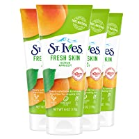 St. Ives Fresh Skin Face Scrub For Healthy Skin Apricot Exfoliating Face Wash With 100 percent Natural Exfoliants 6 oz 4 Count