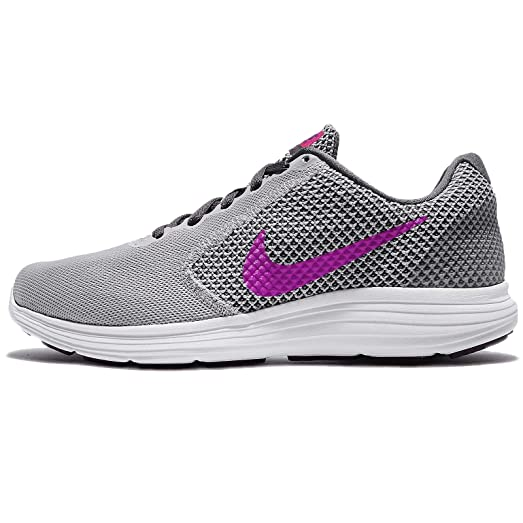 Nike Revolution 3 Wolf Grey/Dark Grey/Bright Grape/Fire Pink Women's Running