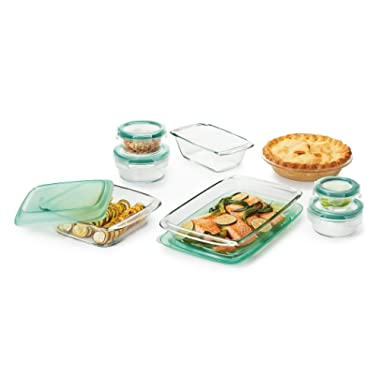 OXO Good Grips 14 Piece Freezer-to-Oven Safe Glass Bake, Serve and Store Set