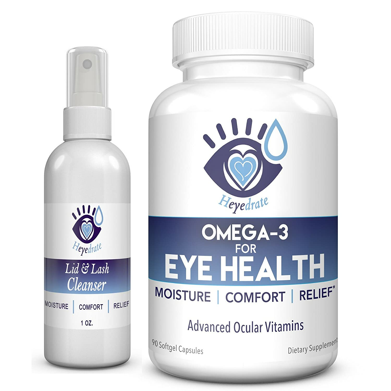 Hypochlorous Acid Eyelid Cleanser Spray - Heyedrate Lid and Lash Cleanser for Relief of Styes, Blepharitis, Dry Eyes, Meibomian Gland Dysfunction, Rosacea, and Eye Irritation Eye Love