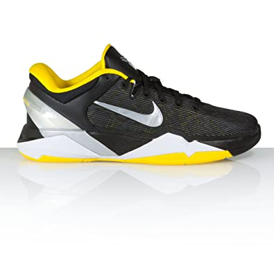 ca109eb72a4c Nike Kobe VII 7 GS Black Yellow Silver 2012 Youth Basketball Shoes  505399-017