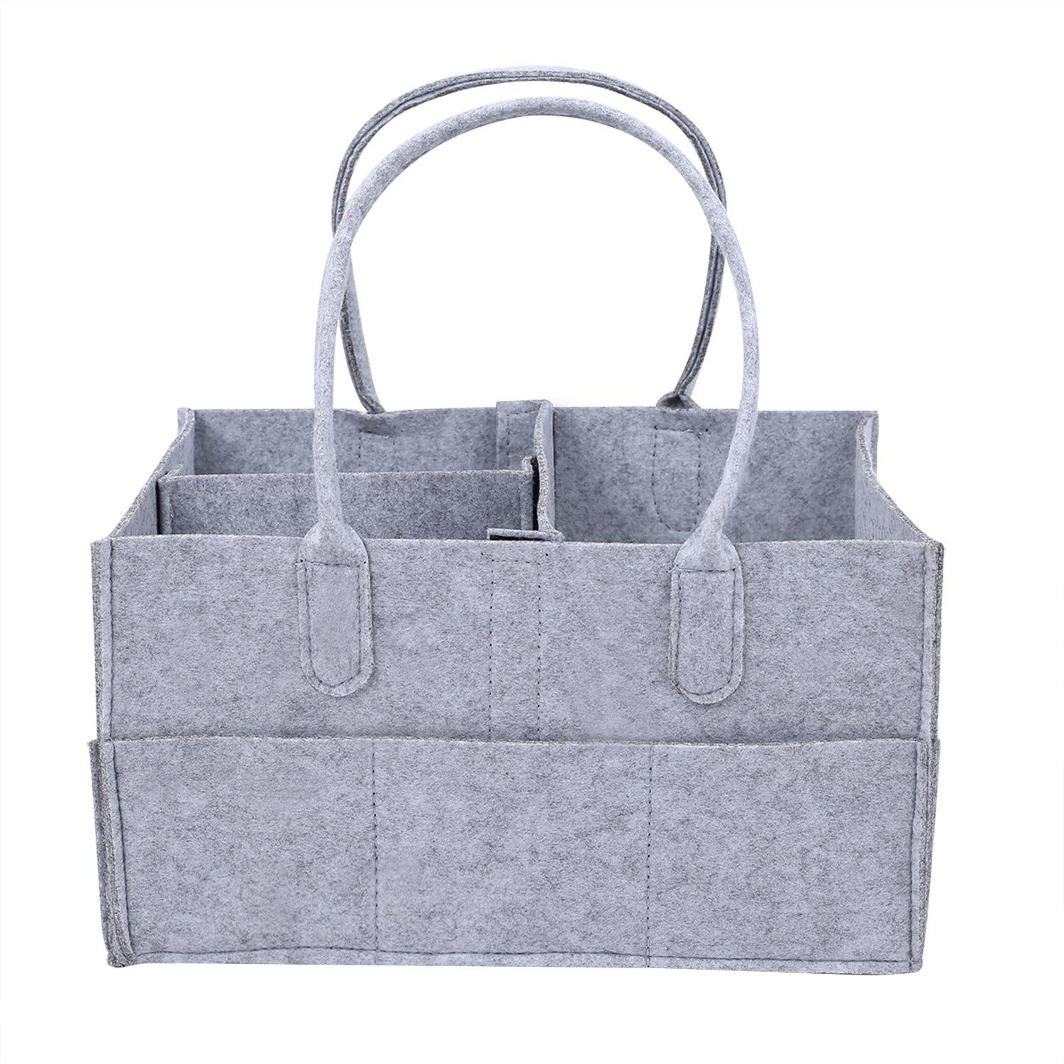 Baby Diaper Caddy with Changeble Compartments - Portable Nursery Storage Bin for Home, Car & Nursery Organizer