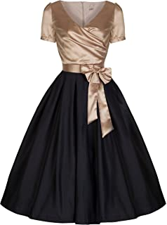 Lindy Bop Gina Vintage 50s Glamourous Black & Gold ...