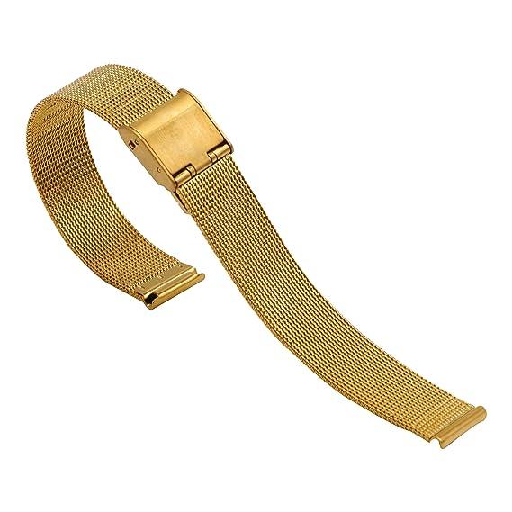 ae436ec5f853 Super Malla de Acero Inoxidable Reloj Band Milanese Loop Repuestos metal correa  para reloj