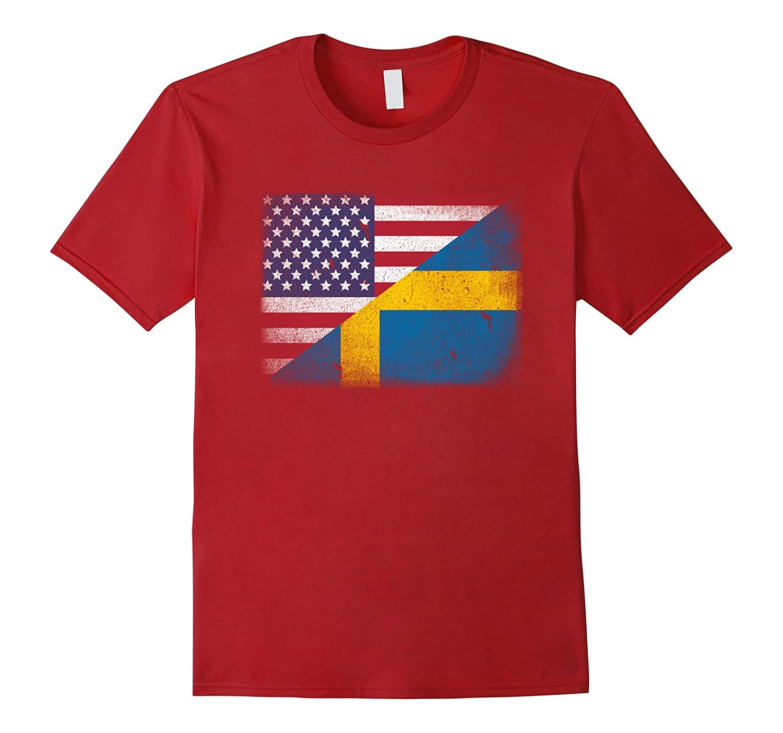 Swedish American Flag T-shirt Sweden Usa Tee Sverige