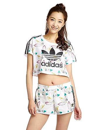 dc69c92d0dc adidas Originals Womens Womens Pharrell Williams Surf Crop T-Shirt in White  - 6: adidas Originals: Amazon.co.uk: Clothing
