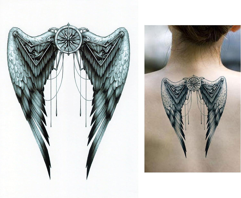 Tatuajes temporales Tempo rary Tattoo Fake Tattoo – Ángel Alas de ...