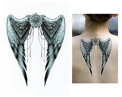 Tatuaggi Temporanei Temporary Tattoo Tatuaggio Falso Ali Di Angelo