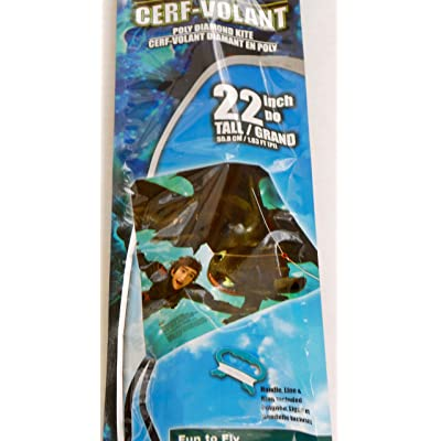 "EZBreezy Kites How to Train Your Dragon: The Hidden World 22"" Poly Diamond Kite: Toys & Games"