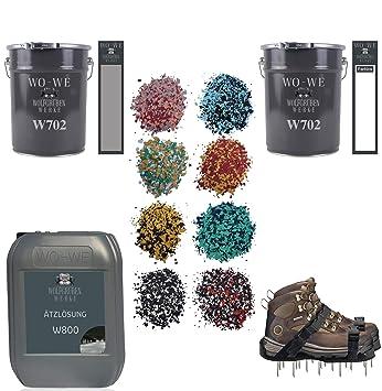 Granit Boden Bodenfliesen Bodenbeschichtung Set Farbchips Beige