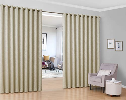 HLC.ME Redmont Lattice Extra Wide Room Divider Curtain Panel