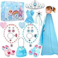 TERTOY Princess Dress Up Shoes & Jewelry Boutique - Princess Toys with Purse, Blue Princess cloak, Crowns, Necklaces…