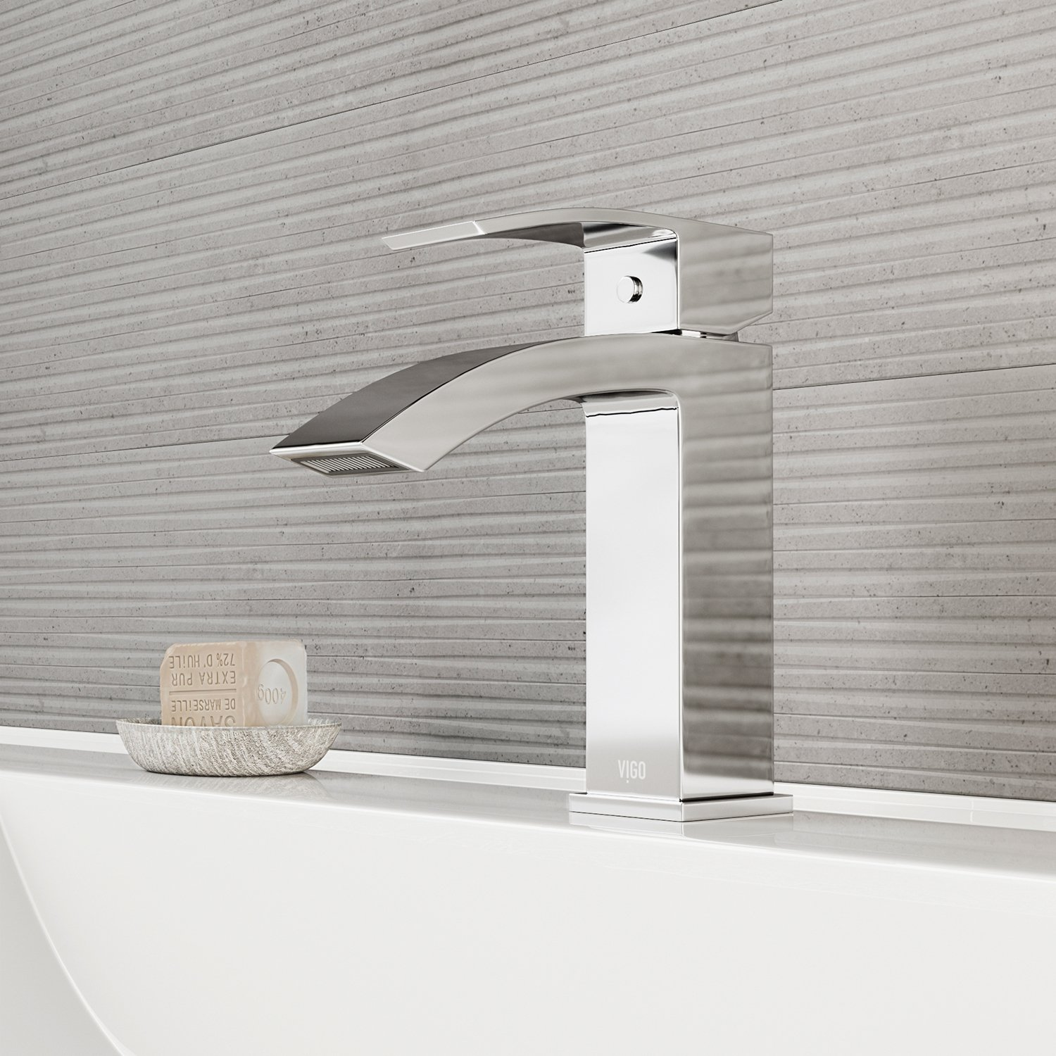 Merveilleux Amazon.com: VIGO VG01015CH Satro Modern Bathroom Faucet, Single Hole  Deck Mount Lavatory Faucet With Plated Seven Layer Polished Chrome Finish:  Home ...