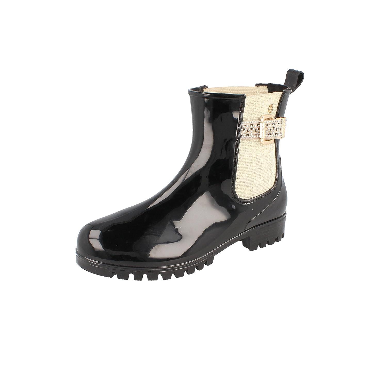 a71777b1b0c261 GOSCH SHOES Sylt Damen Stiefelette Chelsea 7105-502 mit Glitzer-Details in  2 Farben  Amazon.de  Schuhe   Handtaschen
