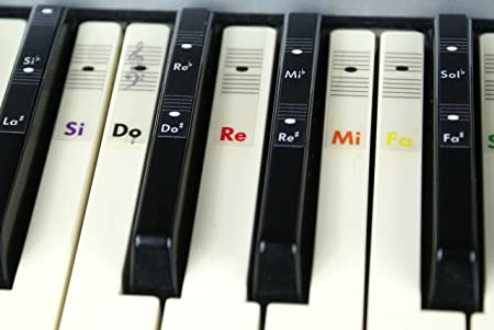Piano teclado música Nota color pegatinas Do-Re-Mi-Fa-Sol ...