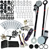 JDMSPEED New Universal Electric Power Window Lift Regulator Conversion Kit with Switches Wiring and Hardware for 2 Door…