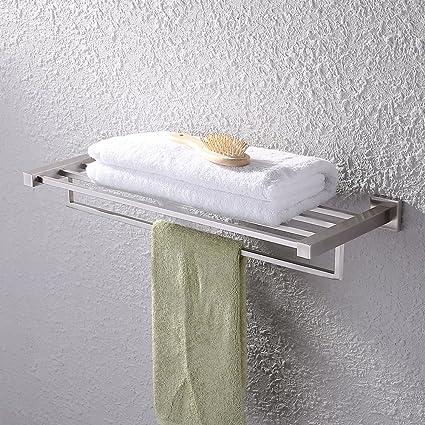Amazon.com: KES Bath Towel Shelf, with Towel Bar Rustproof Stainless ...