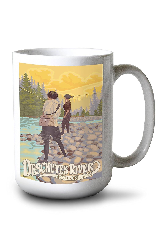 Amazon.de: Lantern Press Deschutes River - Bend, Oregon - Frauen ...