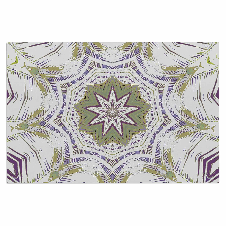 Kess InHouse Alison Coxon Boho Dream Olive Purple Green Decorative Door 2 x 3 Floor Mat