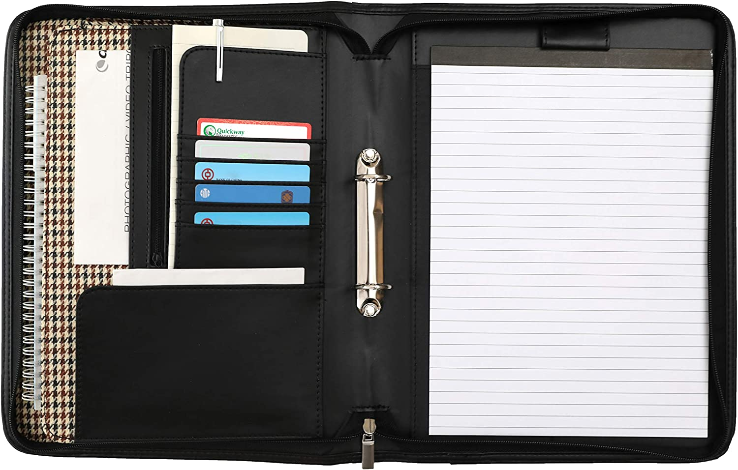 Deerlux QI003310 Max 49% OFF Fashion Leather Business Portfolio Includ Handles with