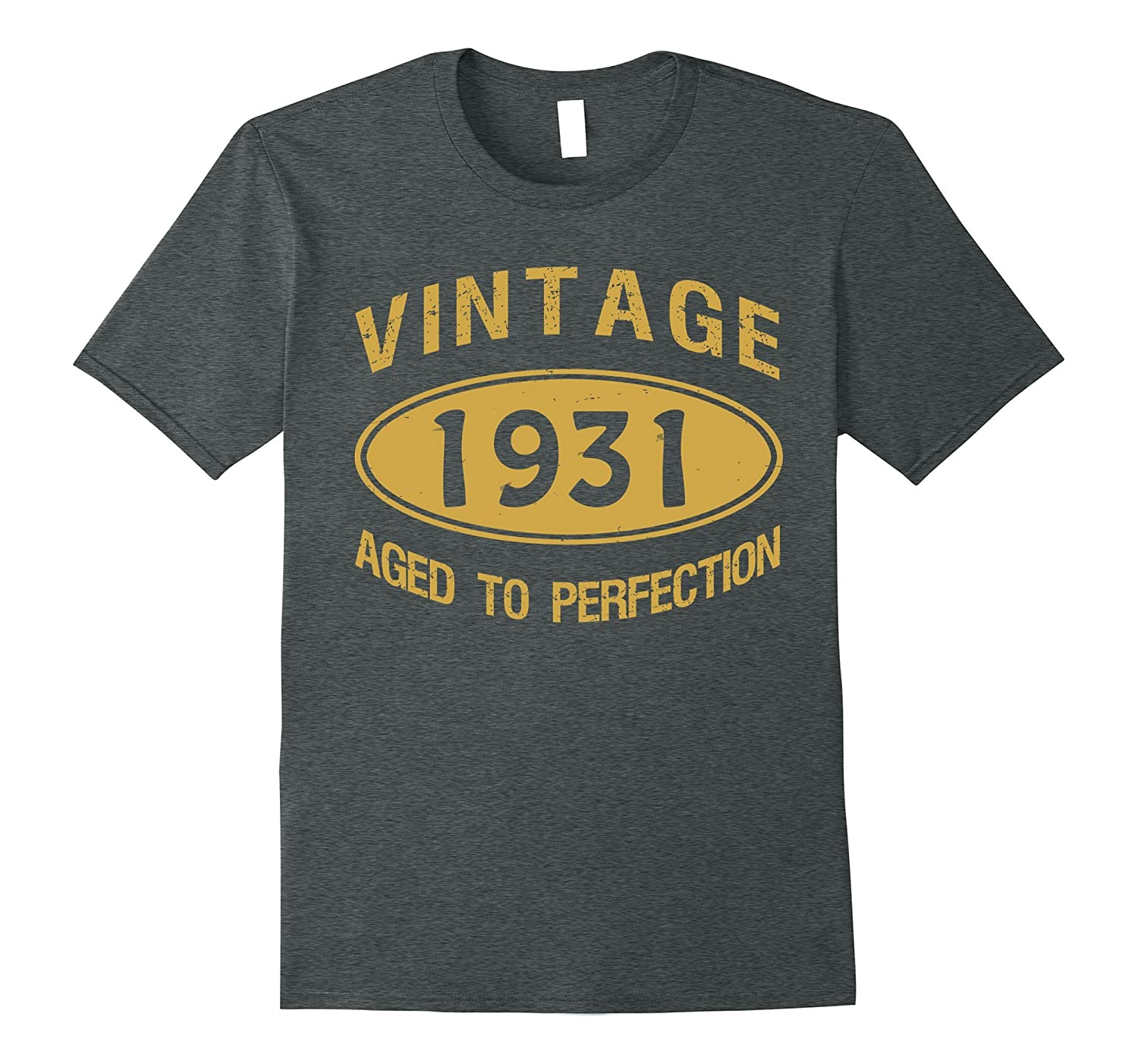 86th Birthday Gift Vintage 1931 Aged To Perfection T-Shirt-Vaci