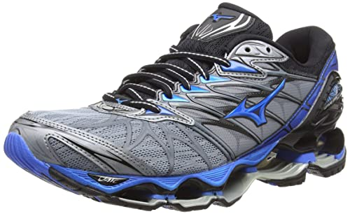 8731fbe5588b Mizuno Men's Wave Prophecy 7 Running Shoes, Grey (Tradewinds/Divablue/Black  24