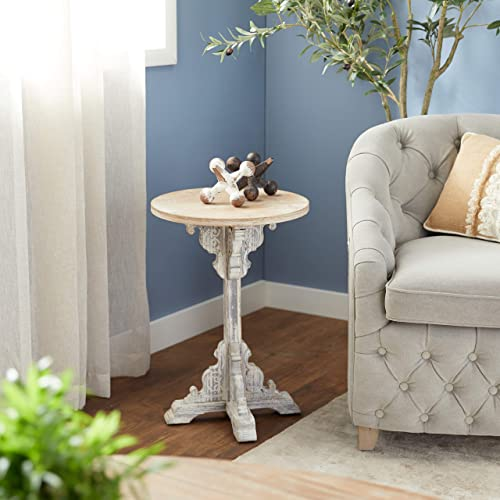 Deco 79 Traditional Round Wooden Accent Table