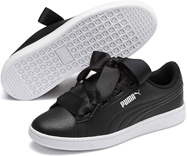 black ribbon trainers