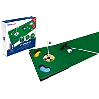 PGA Tour 6ft Putting Mat with Collapsible Putter & Alignment Guide Golf Ball
